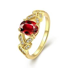 Gemstone Twisted Gold Mesh Ring
