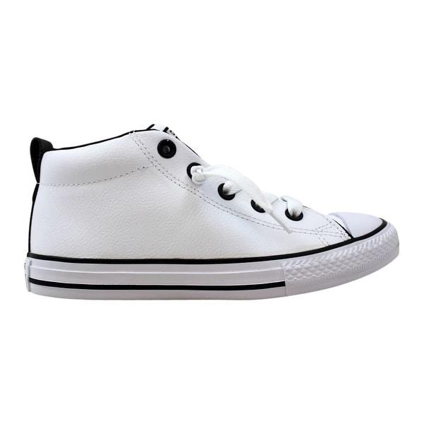 3793fb45f9378 Converse Chuck Taylor All Star Street Mid White White-Black 655993C  Pre-School
