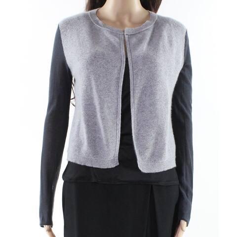 Philosophy Gray Womens Size Medium M Colorblock Cardigan Sweater