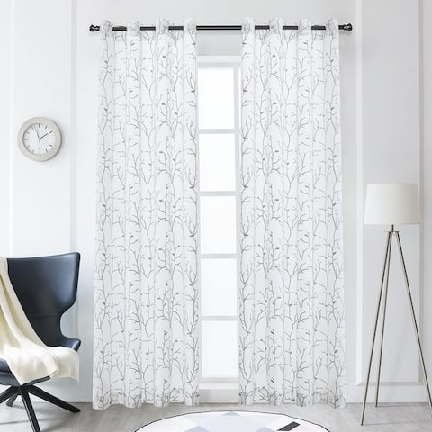 Lyndale Tess Embroidered Sheer Curtain