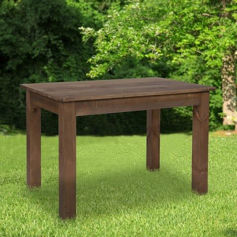"46"" x 30"" Rectangular Antique Rustic Solid Pine Farm Dining Table - 30""W x 46""D x 30""H - 30""W x 46""D x 30""H"
