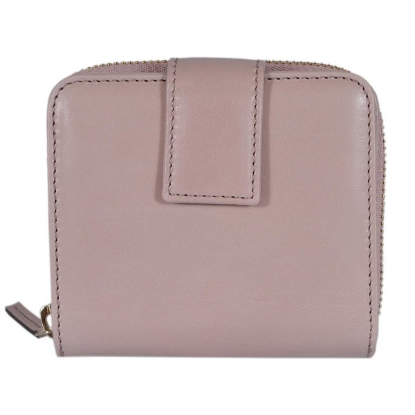 "Gucci Women's 346056 Cipria Pink Leather French Zip Wallet W/Coin - 4""x4"""