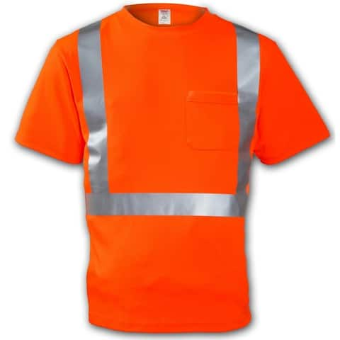 Tingley S75029-LG High Visibility Short Sleeve TâShirt, Large, Orange