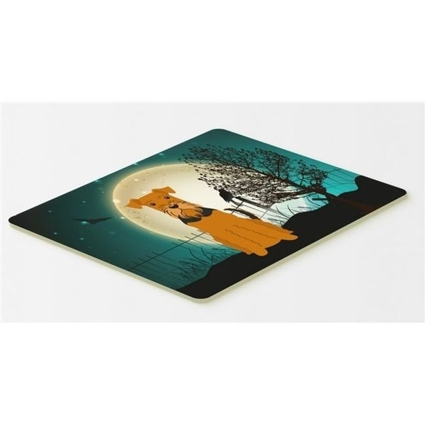 Carolines Treasures BB2231CMT Halloween Scary Airedale Kitchen or Bath Mat 20 x 30