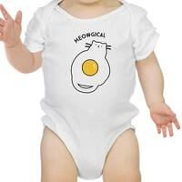 Meowgical Cat White Infant Bodysuit Baby First Halloween Costumes