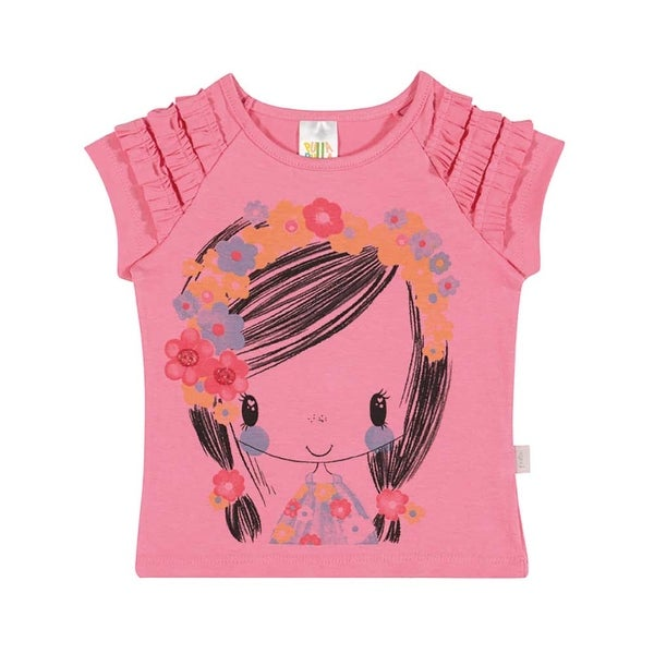 Baby Girl Shirt Infant Floral Graphic Tee Pulla Bulla Sizes 3-12 Months