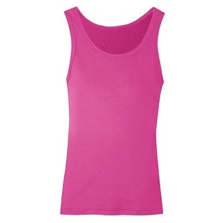 Hanes Girls' Rib Tank - Size - M - Color - Amaranth