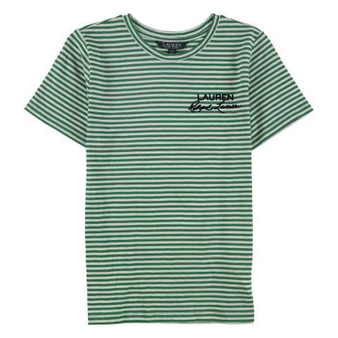 Ralph Lauren Womens Katonda Logo Embellished T-Shirt, Green, PXS