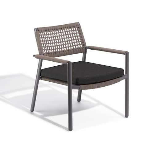 Oxford Garden Eiland Mocha Composite Cord Club Chair - Pepper Cushion