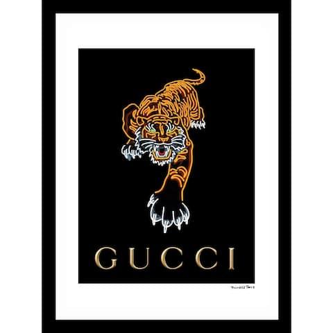 """Fairchild Paris - GUCCI TIGER - Framed Wall Art - 14"""" x 18"""""""