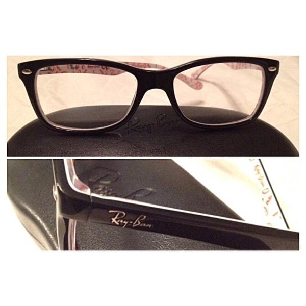 f117c407e5b48 Shop Ray-Ban  RX 5228 5014  Black Logo Print Eyeglass Frames - Free  Shipping Today - Overstock - 8896419