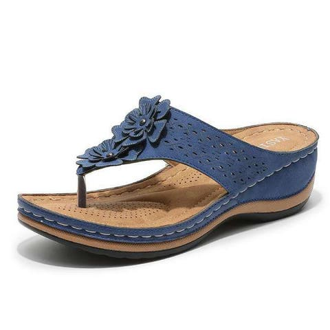 Women's Lightweight Flip Flops Wedge Sandals And Slippers