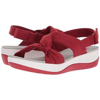 ec5c8d1f9715 CLARKS Womens Arla Mae Strappy Heathered Wedges - 9. Quick View