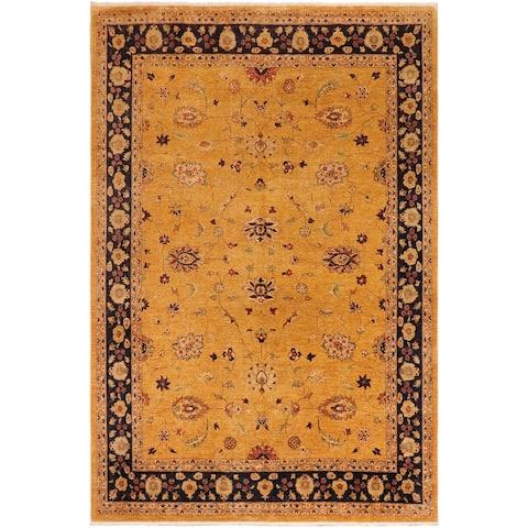 """Ziegler Kafkaz Ernestin Gold Blue Wool Rug - 10'1 x 13'3 - 10'1"""" x 13'3"""""""