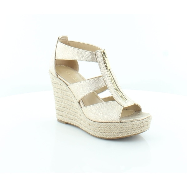 76be232aae97 Shop Michael Kors Damita Wedge Women s Heels Pale Gold - Free ...