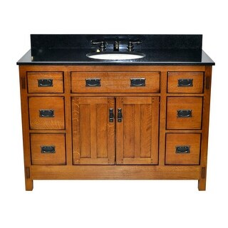 "Sagehill Designs AC4821DN American Craftsman 48"" Oak Vanity Cabinet Only"