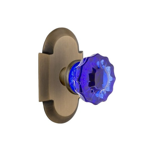 Shop Nostalgic Warehouse COTCRC_SD_NK Cottage Solid Brass Rose Single Dummy  Door Knob With Cobalt Crystal Knob   N/A   Free Shipping Today    Overstock.com   ...