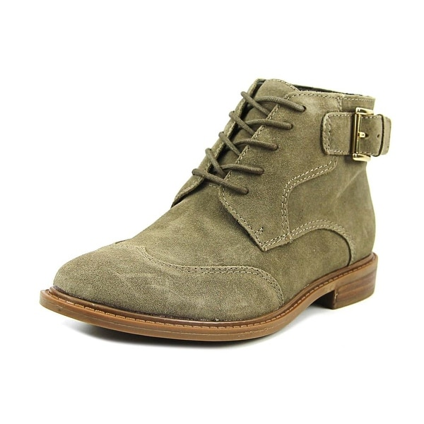 a88ccb61330 Shop Tommy Hilfiger julea Women Round Toe Suede Green Bootie - Free ...