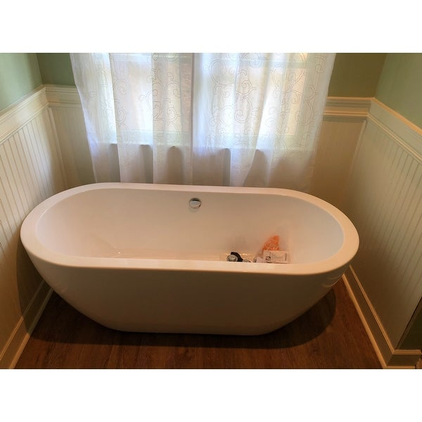 Shop Wyndham Collection Soho Freestanding Soaking Bathtub - Free ...