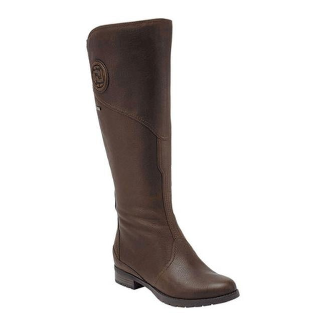 5dc86cdb303 Shop Rockport Women s Tristina Gore Tall Waterproof Boot Wide Calf Brownie  Full Grain Leather - Free Shipping Today - Overstock - 8657608