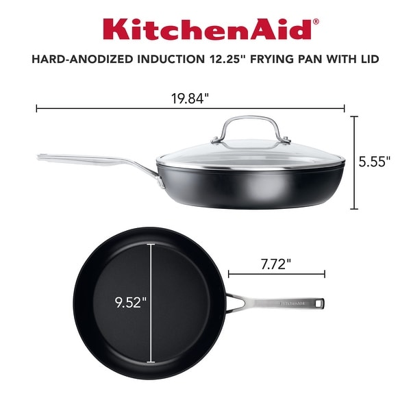 "KitchenAid Hard-Anodized Induction Nonstick 12.25"" Frying Pan"