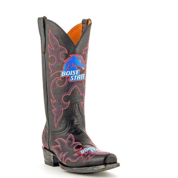 Gameday Boots Mens College Team Boise State Broncos Black