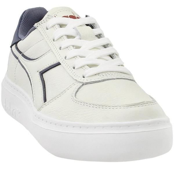 6c973b1f Shop Diadora Womens B.Elite Leather Wide Casual Shoes - Free ...