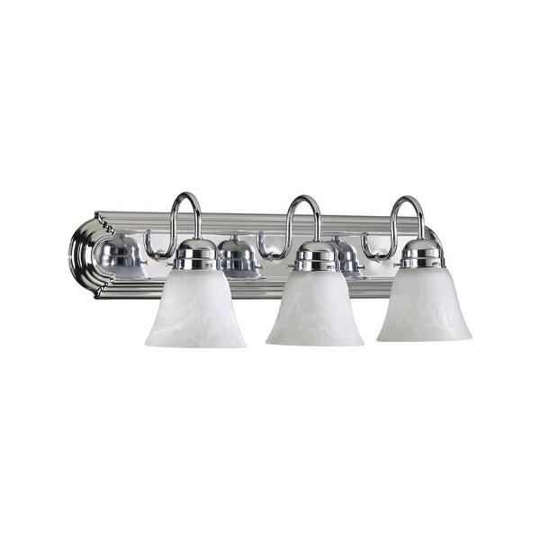"Quorum International 5094-3-114 3 Light 24"" Wide Bathroom Vanity Light - Chrome"
