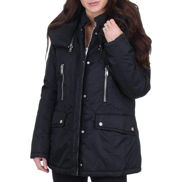 Marc New York Hollis Women's Insulated Hooded Aviator Winter Parka Coat. Opens flyout.