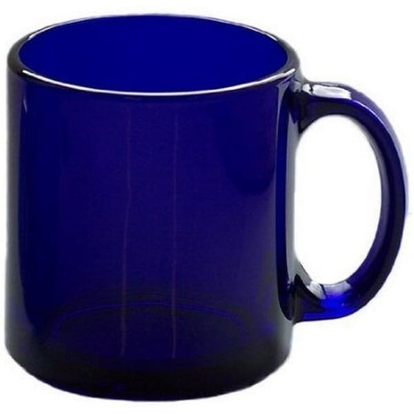 HIC 90008 Ceramic Mug, 12 Oz, Cobalt Blue