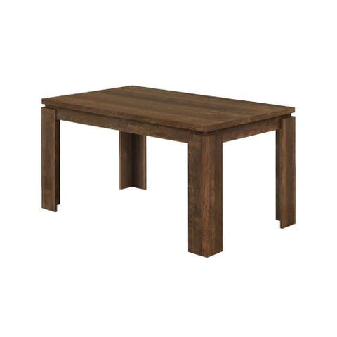 """Offex Dining Table - 36"""" x 60"""" Brown Reclaimed Wood-Look - Not Available"""