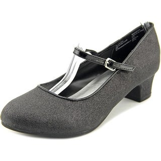 Olive & Edie Lucina Youth Round Toe Canvas Black Mary Janes