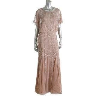 Aidan Mattox Womens Tulle Sequined Evening Dress