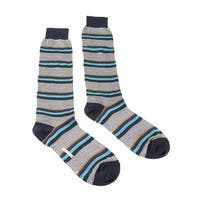 Missoni GM00COU4191 0002 Black/Turquoise Striped Knee Length Socks - S