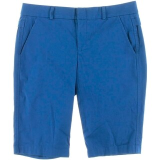 Vince Womens Twill Mid-Rise Bermuda Shorts