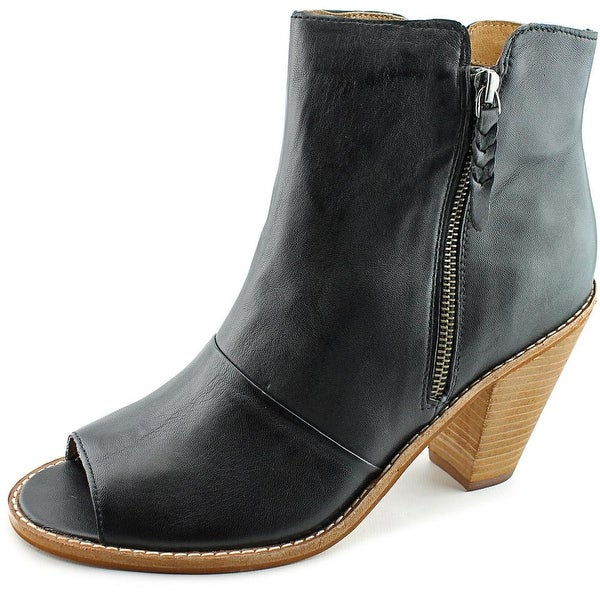 Corso Como Tameka Women Peep-Toe Leather Black Ankle Boot