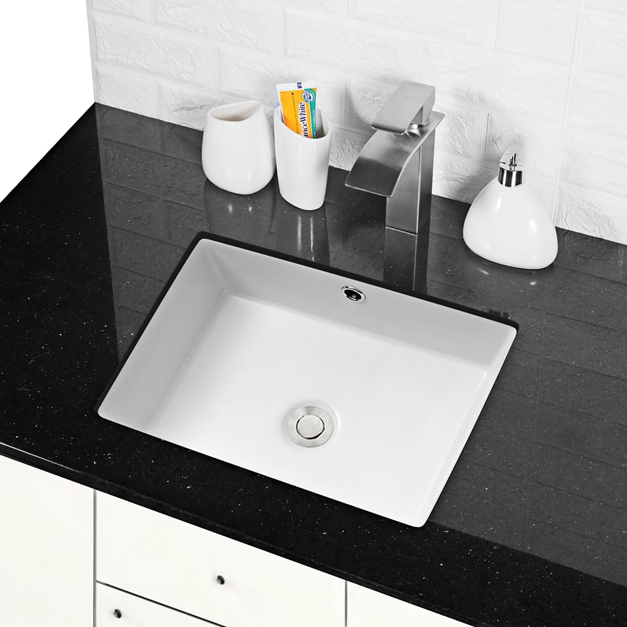 Rectangular Undermount Bathroom Sink With Overflow On Sale Overstock 31420602