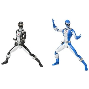 Power Rangers Operation Overdrive Black And Blue Ranger Figure Set - multi