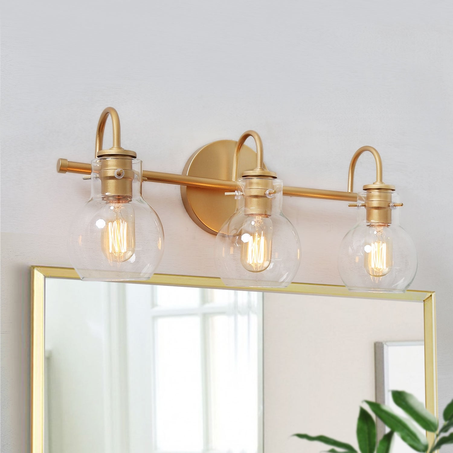 Carson Carrington Gold Bathroom Vanity Lighting Wall Sconces For Powder Room L22 X W7 X H9 L22 X W7 X H9 Overstock 29346693