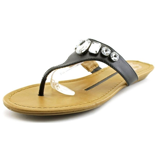 New Directions Dazzle Women Open Toe Synthetic Black Thong Sandal