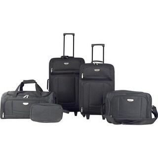 Travelers Club Tuscany 5-Piece Softside Value Luggage Set Black - US One Size (Size None)