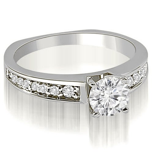 0.75 cttw. 14K White Gold Round Cut Diamond Engagement Ring