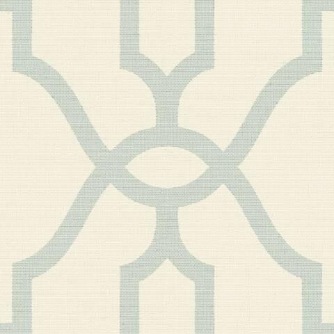 Woven Trellis Wallpaper, 20.5 in. x 33 ft. = 56 sq.ft - 20.5 in. x 33 ft. = 56 sq.ft
