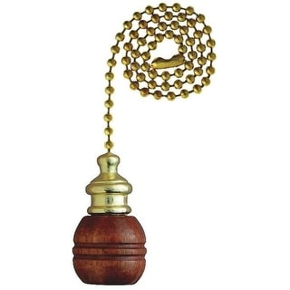 """Westinghouse 7700700 Sculptured Wooden Ball Pull Chain, 12"""""""