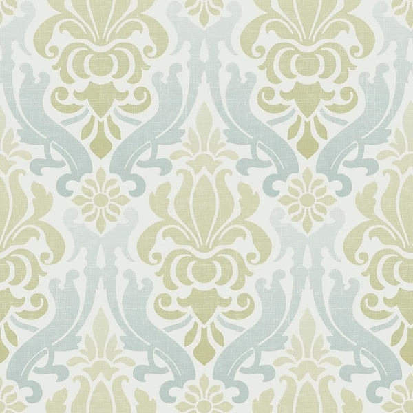 Brewster Nouveau Damask Peel and Stick Wallpaper Nouveau Damask Wall Pops Wallpaper - N/A