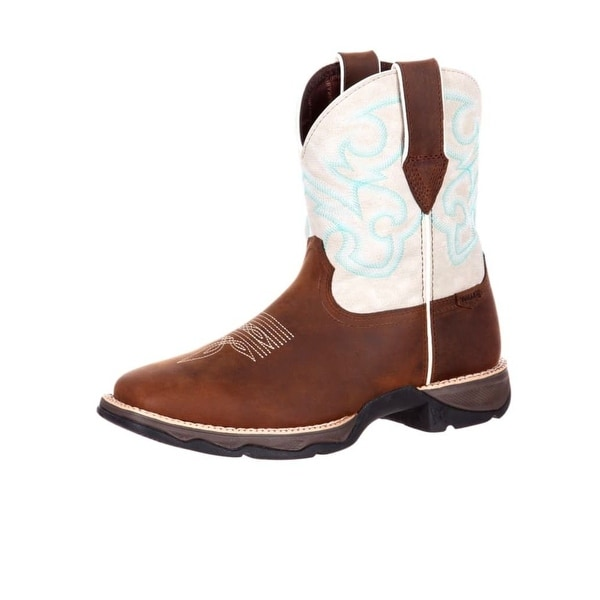 Durango Western Boots Womens Rocker Heel Square Toe Brown Drd0180