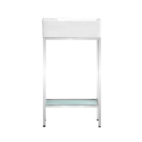 Pierre 19.5 Single, Freestanding, Open Shelf, Metal Frame Bathroom Vanity
