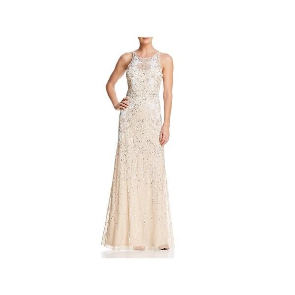 00eafaa71 Shop Adrianna Papell Womens Evening Dress Beaded Mesh - Free ...