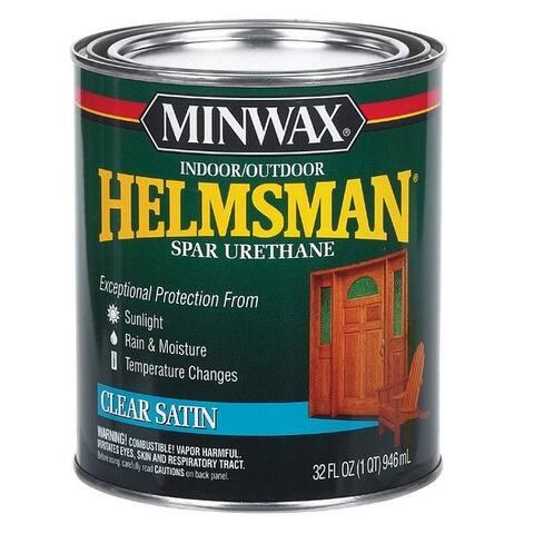 Minwax 63205 Helmsman Spar Urethane, 1 Quart, Clear