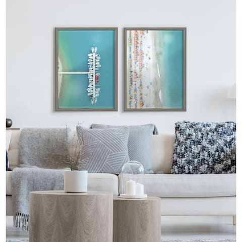 Kate and Laurel Blake Gorges Framed Printed Glass by Rachel Dowd